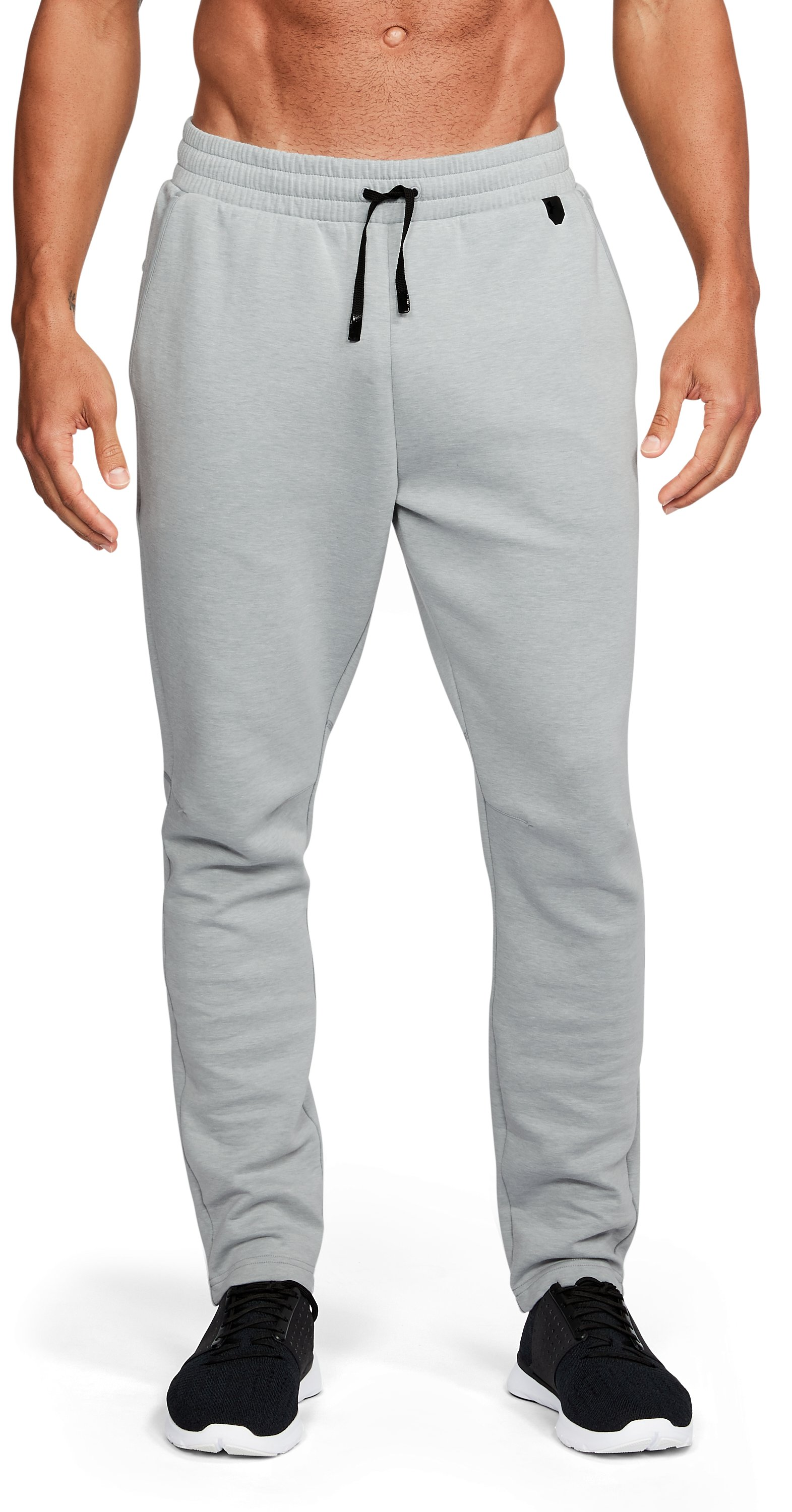 Men's UA Unstoppable Knit Pants, True Gray Heather