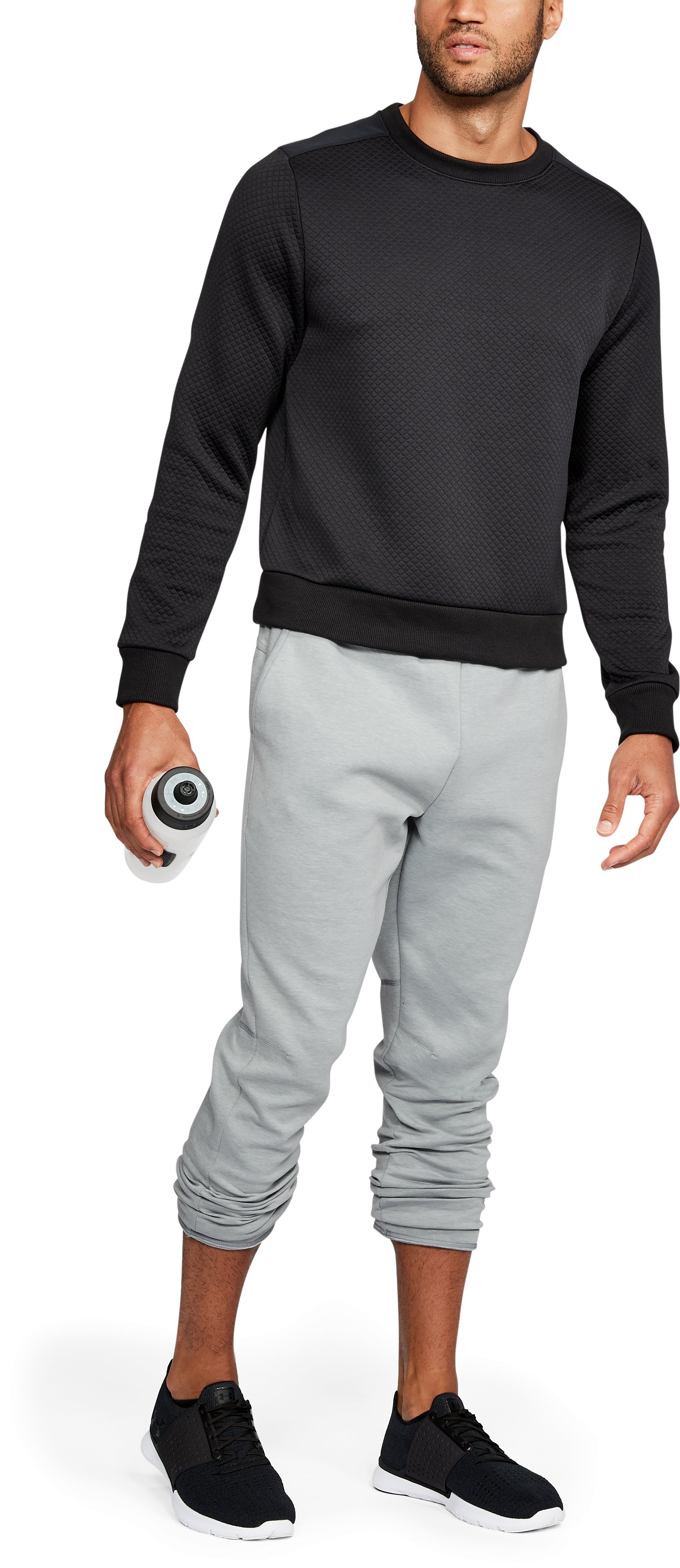 Men's UA Unstoppable Knit Pants, True Gray Heather,