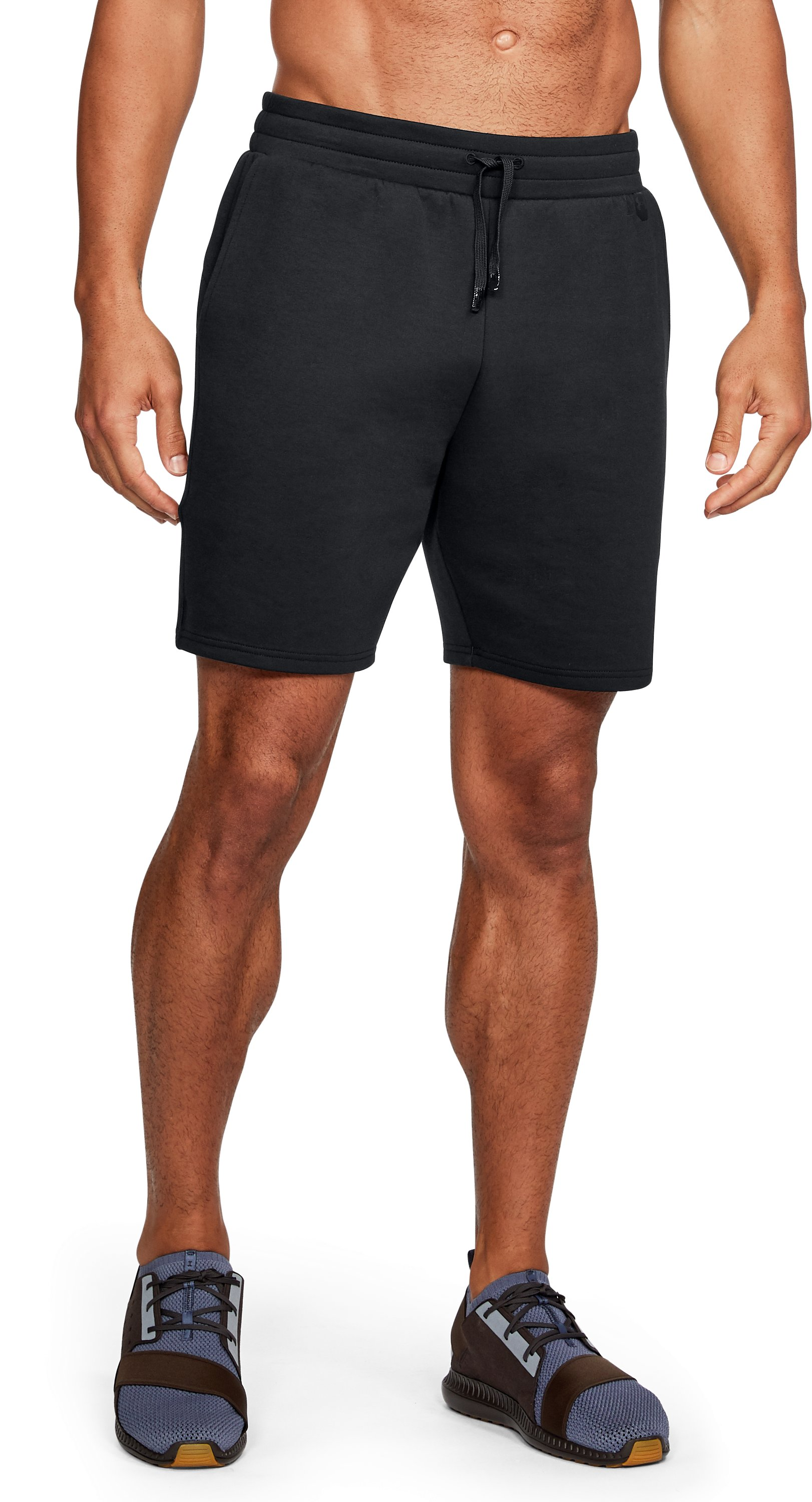 Men's UA Unstoppable Knit Shorts, Black ,