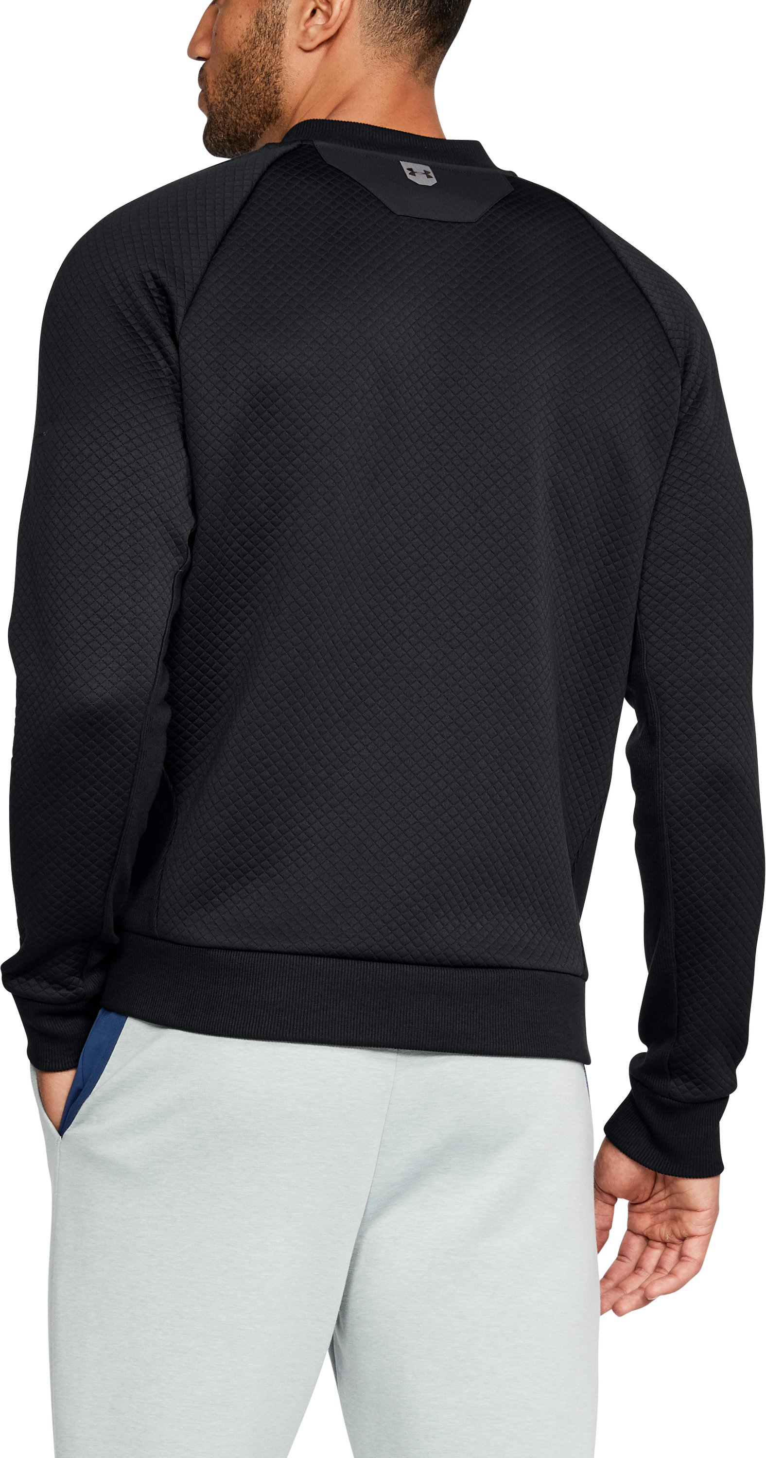 Men's UA Unstoppable Textured Jacket, Black ,
