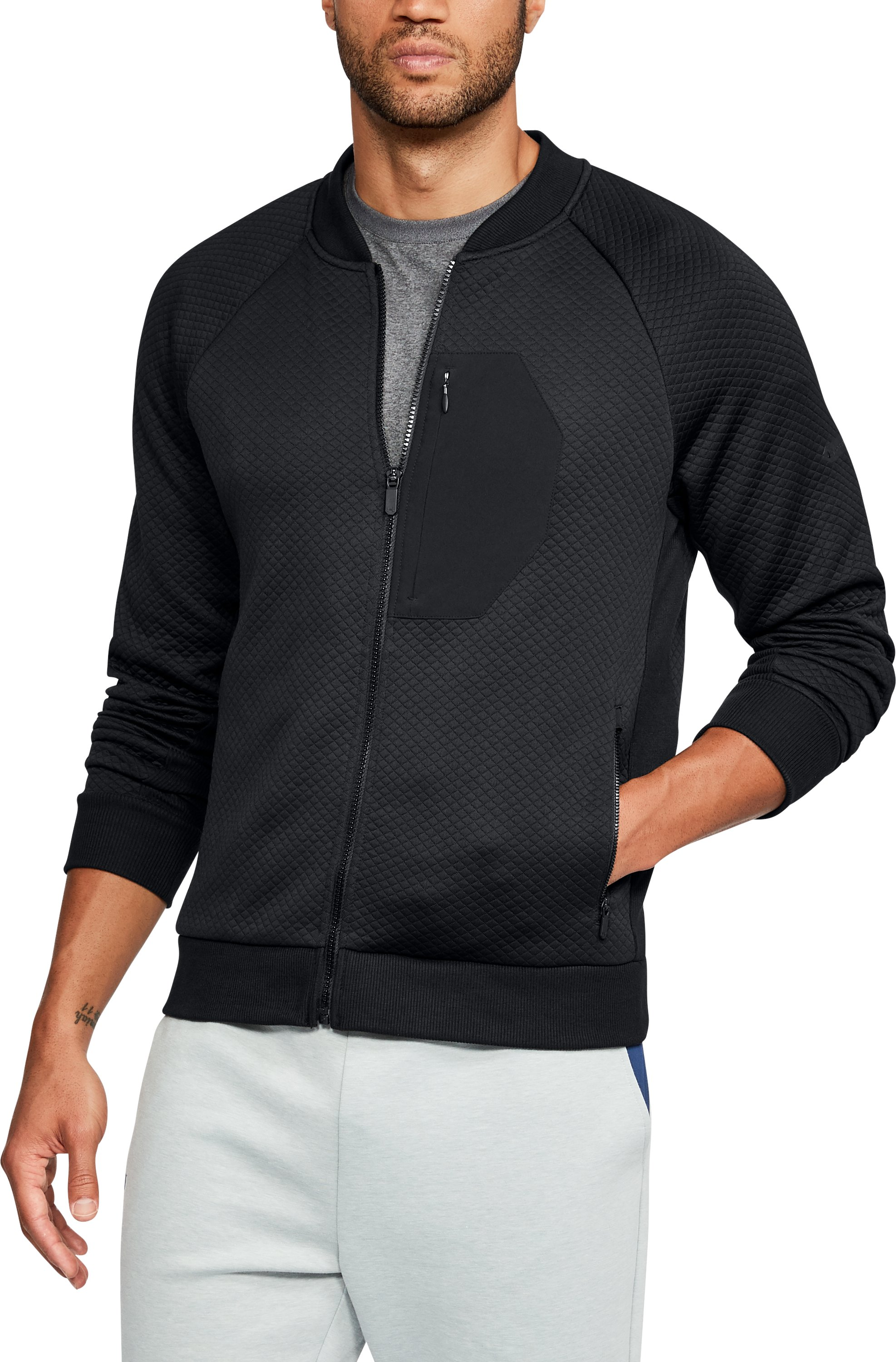 Men's UA Unstoppable Textured Jacket, Black