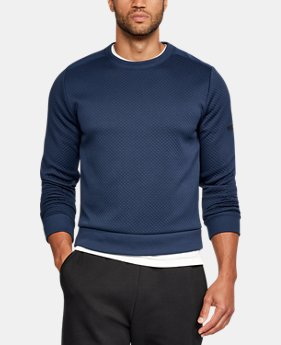 Men's UA Unstoppable Textured Crew  2 Colors $95