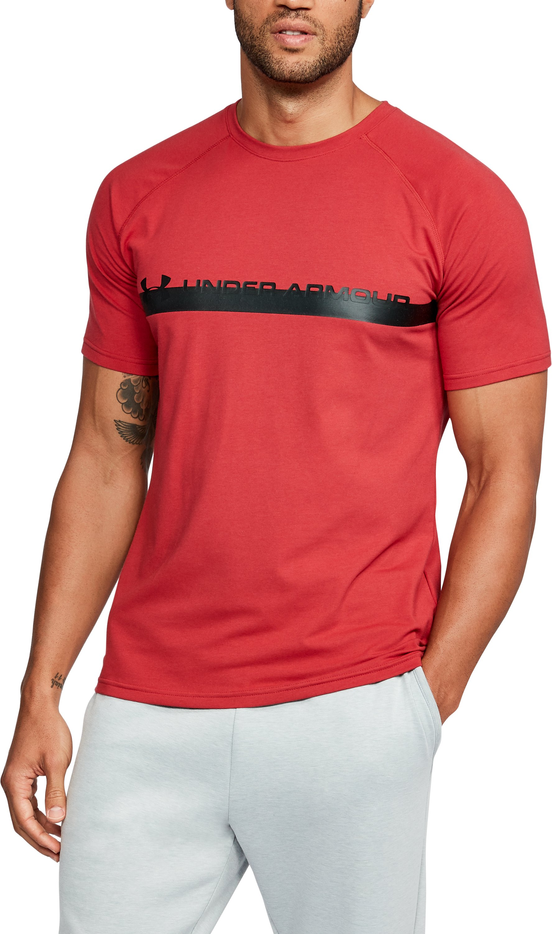 Men's UA Unstoppable Graphic T-Shirt, Cherry Red