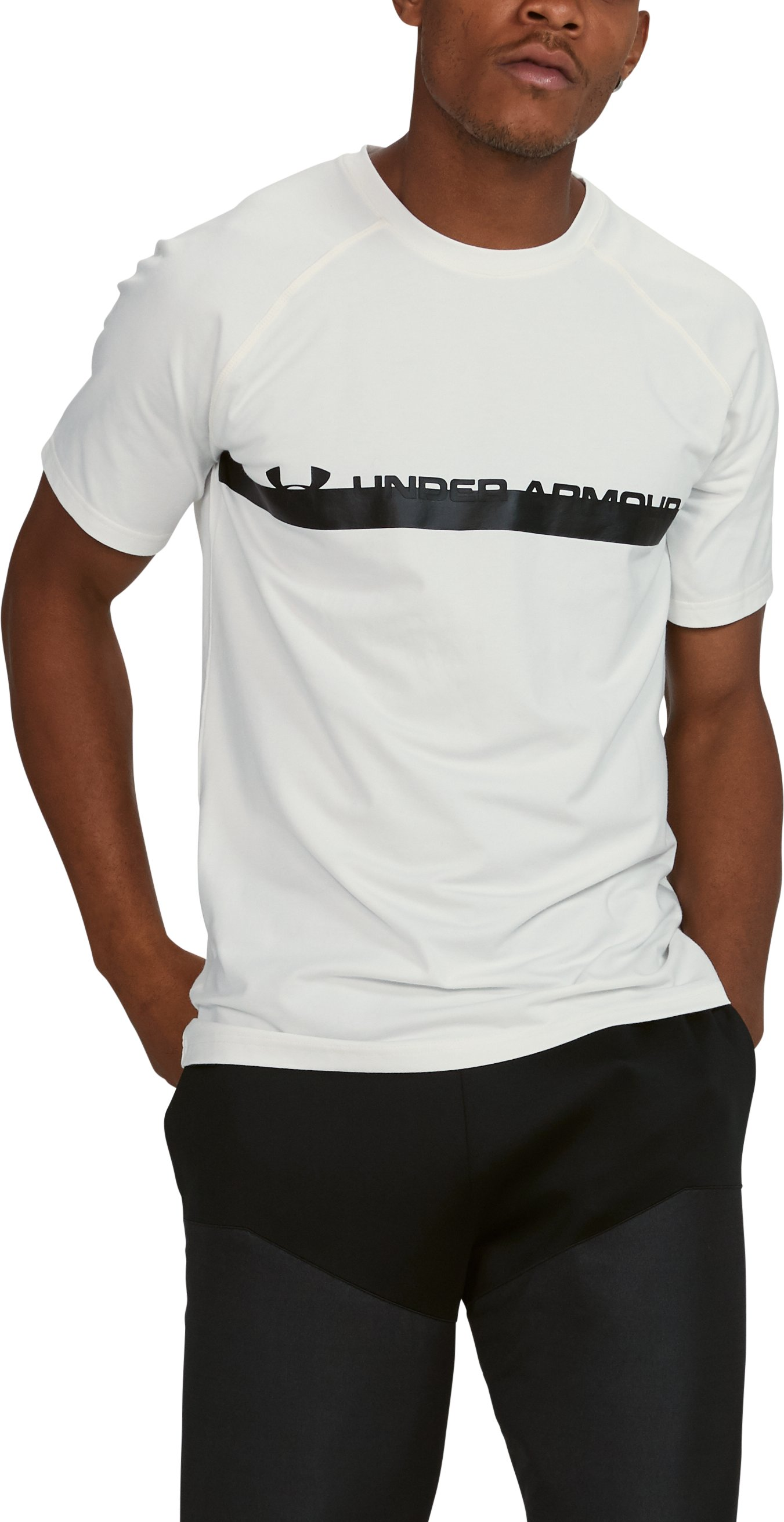 Men's UA Unstoppable Graphic T-Shirt, SALT WHITE