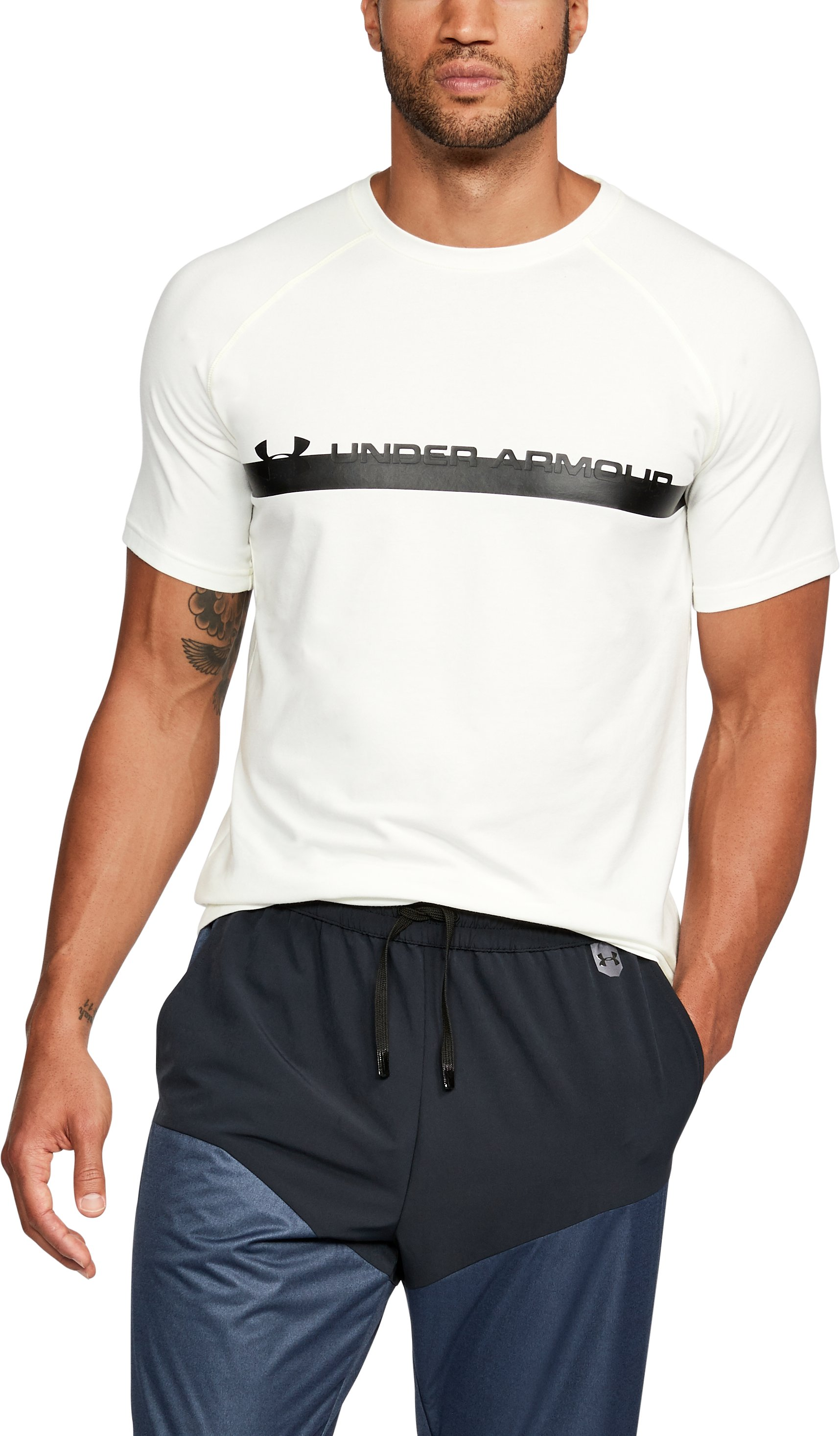 Men's UA Unstoppable Graphic T-Shirt, SALT WHITE,
