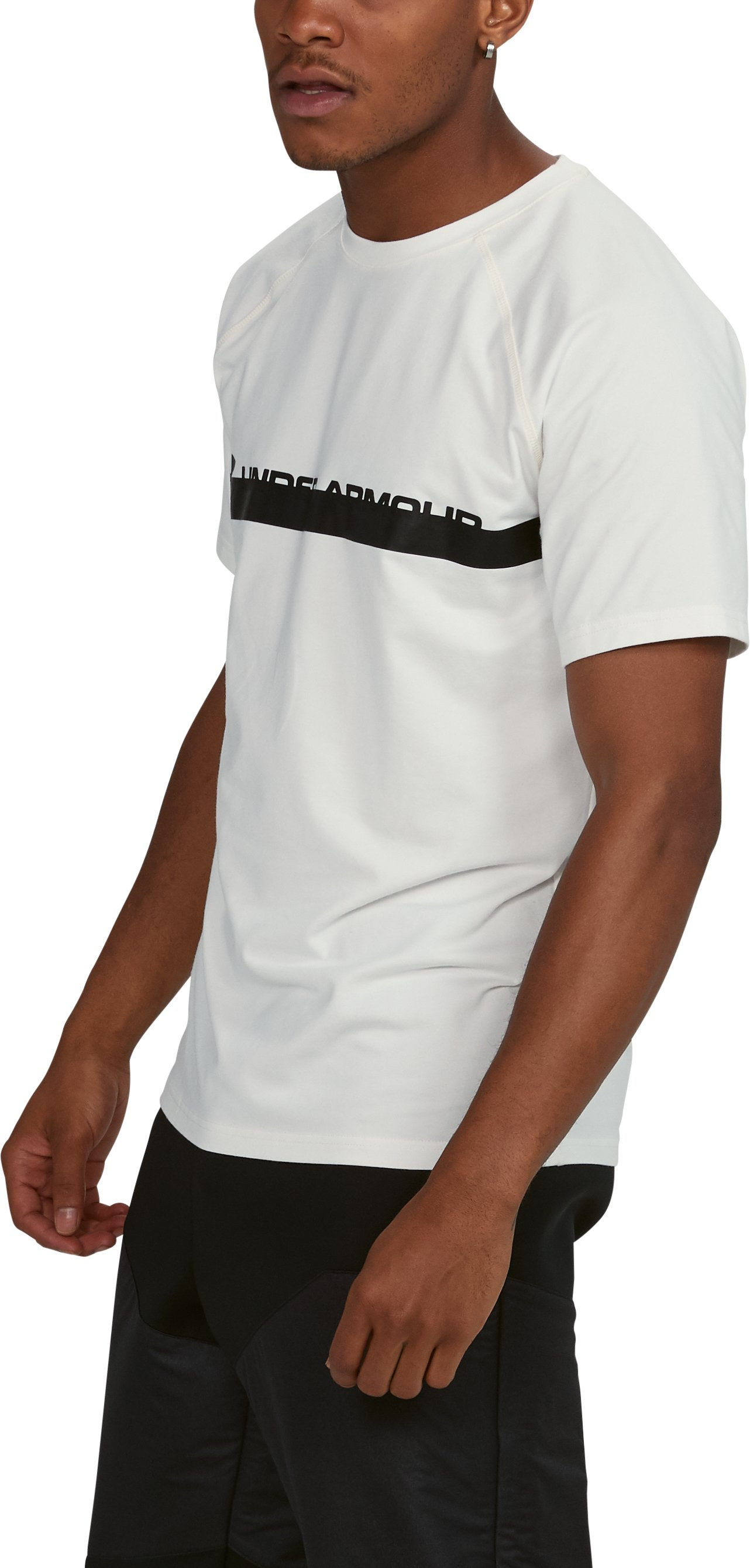 Men's UA Unstoppable Graphic T-Shirt, SALT WHITE, undefined