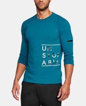 New Arrival  Men's UA Unstoppable ¾ Sleeve T-Shirt  1 Color $39.99