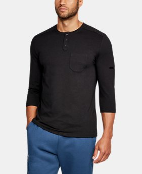 Men's UA Unstoppable Knit ¾ Utility Henley  3  Colors Available $26.99