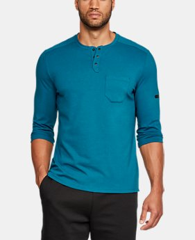 New Arrival  Men's UA Unstoppable Knit ¾ Utility Henley  1 Color $55