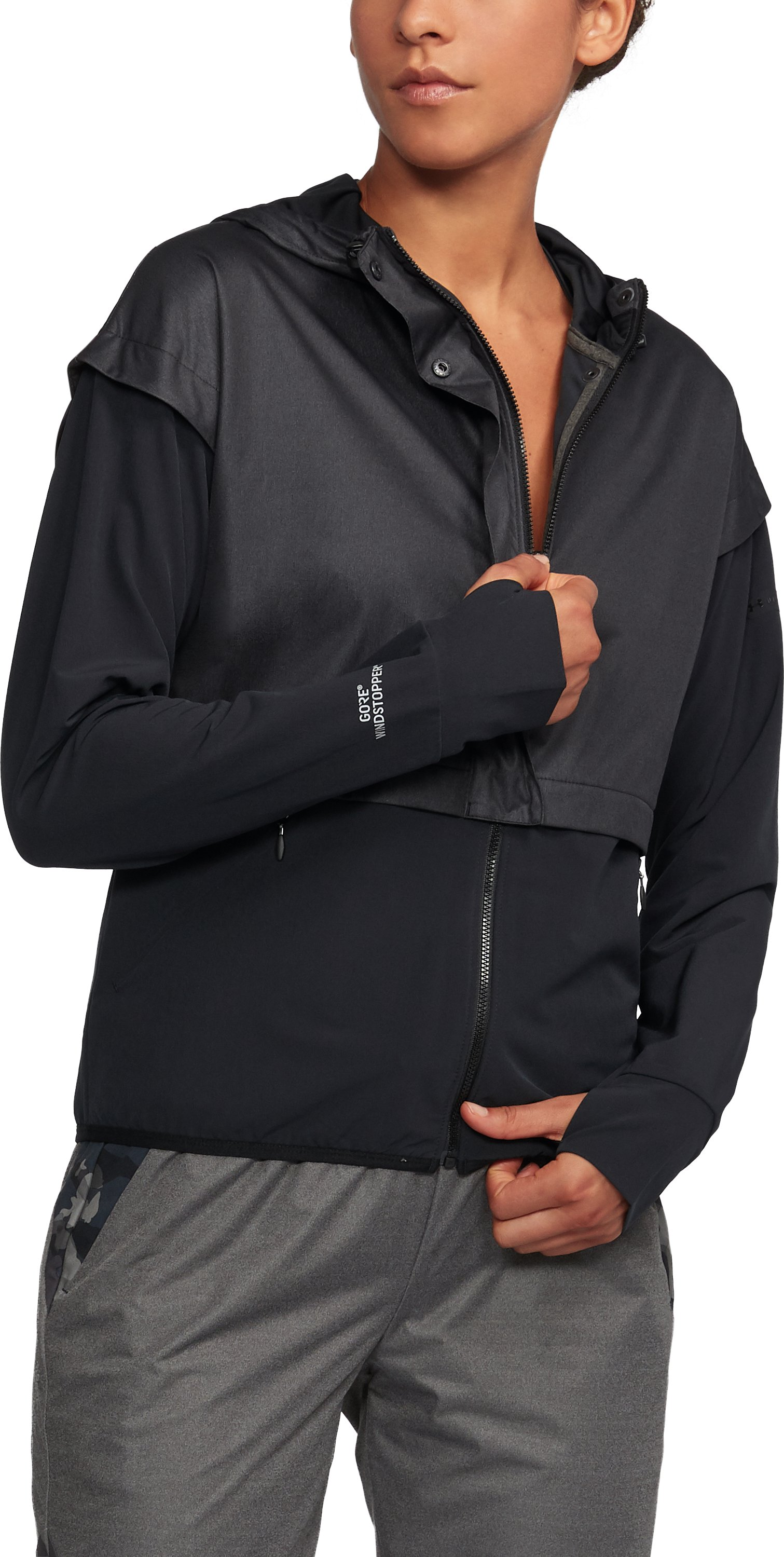 Women's Unstoppable GORE® WINDSTOPPER® Hoodie, True Gray Heather, undefined