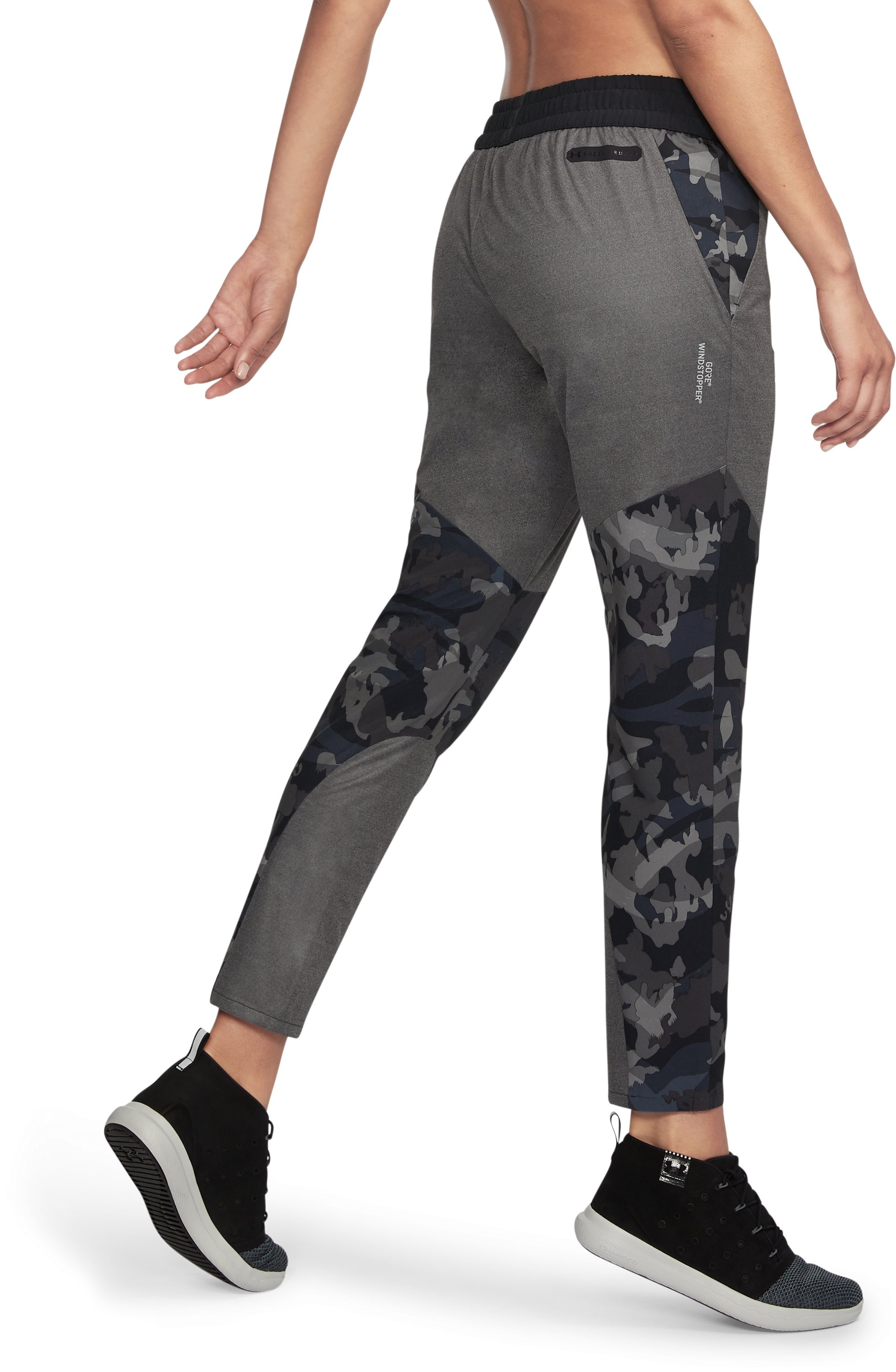 Women's UA Unstoppable GORE® WINDSTOPPER® Pants, Black ,