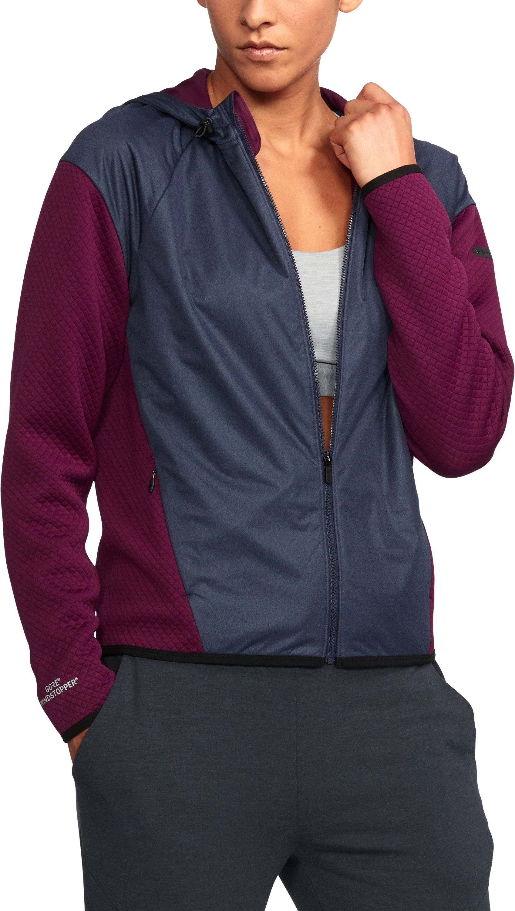 Women's UA Unstoppable GORE® WINDSTOPPER® Fleece, PURPLE SORBET, undefined