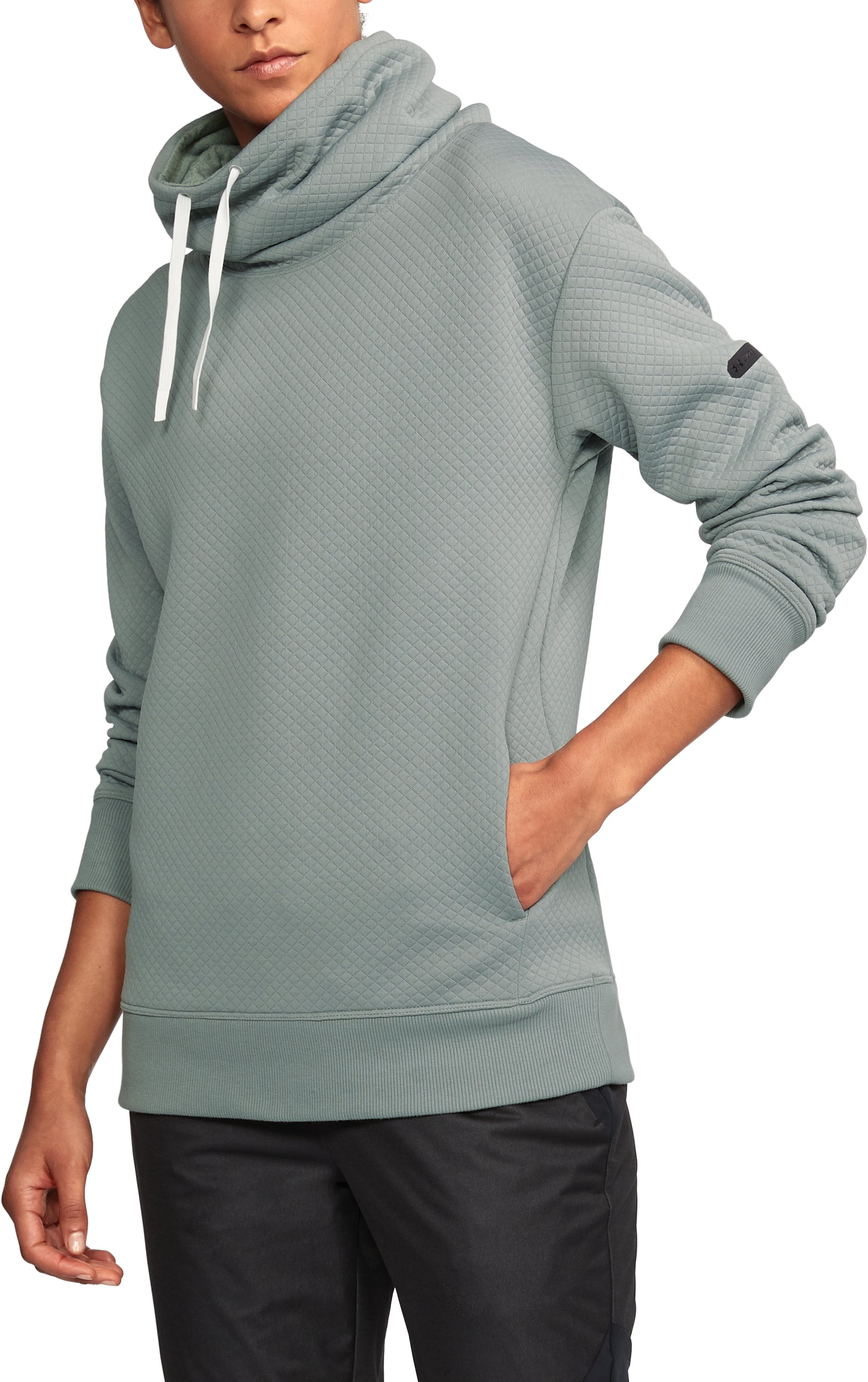 Women's UA Unstoppable Textured Pullover, IRON GRAY
