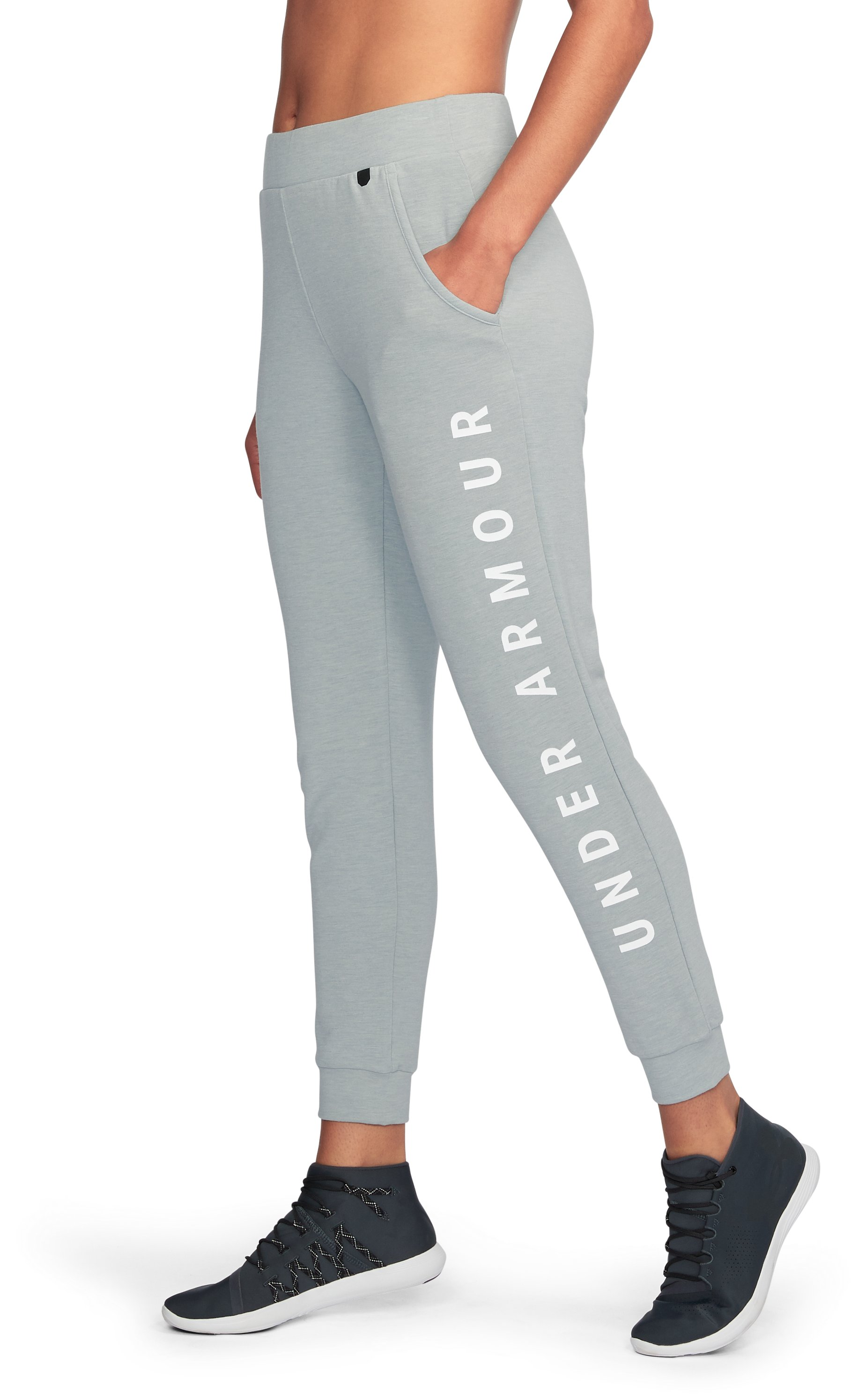 Women's UA Unstoppable To/From Joggers, True Gray Heather