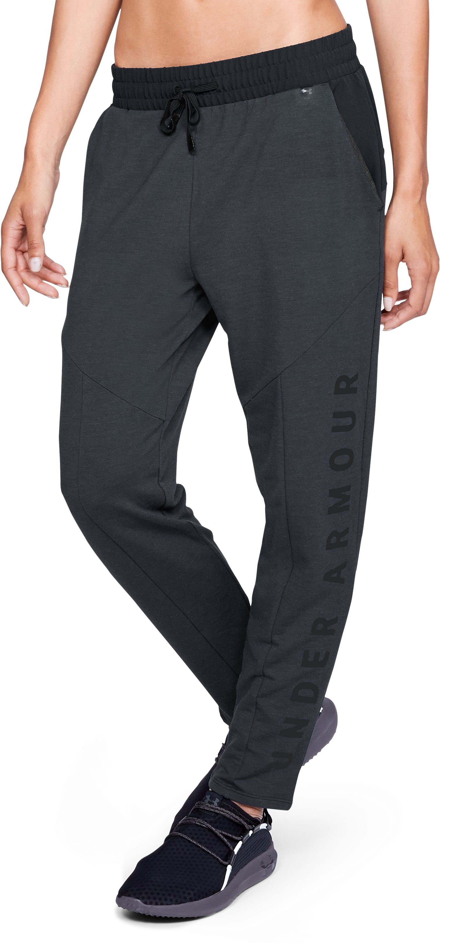 Women's UA Unstoppable World's Greatest Knit Sweat Pants, Black
