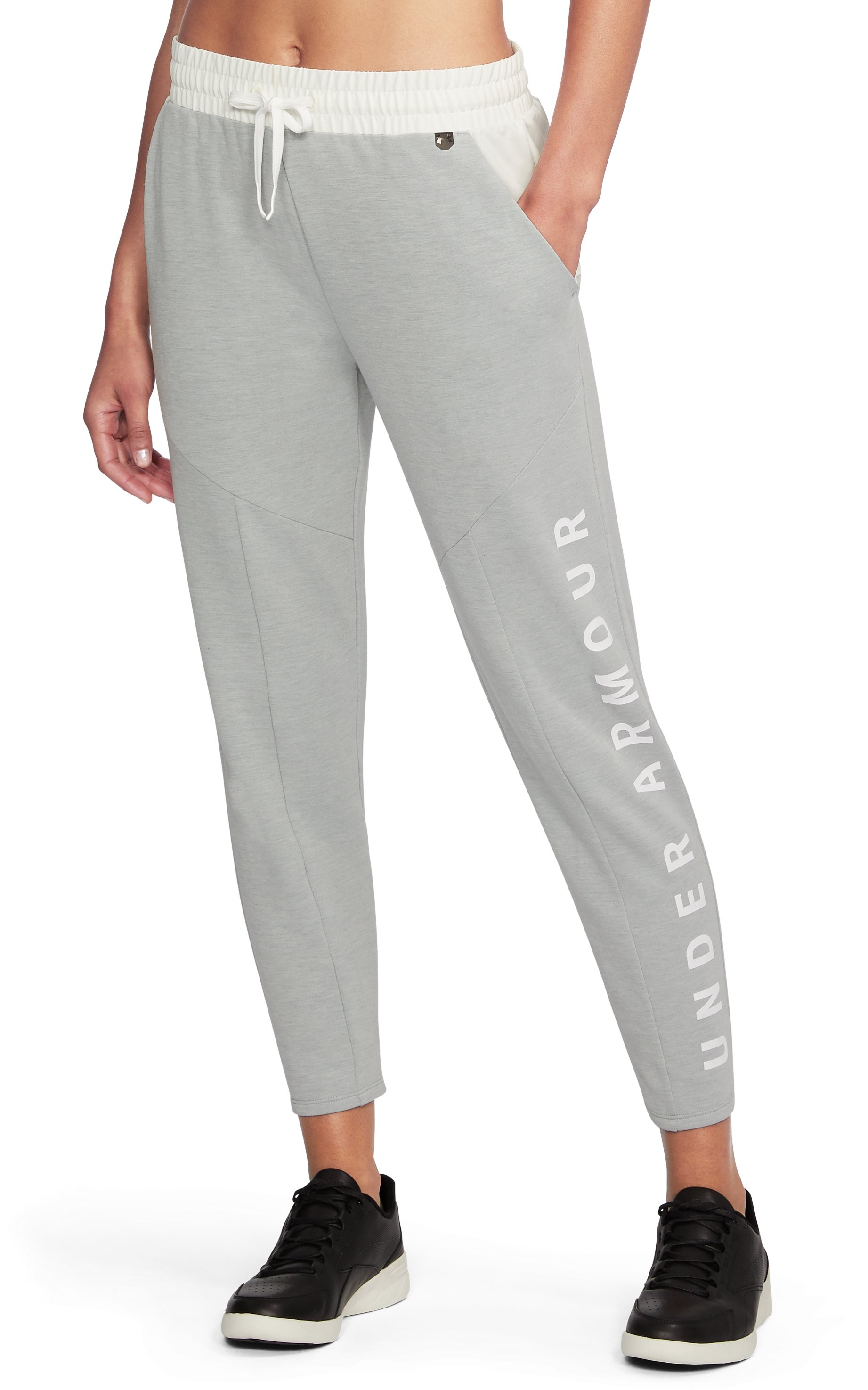 Women's UA Unstoppable World's Greatest Knit Sweat Pants, True Gray Heather