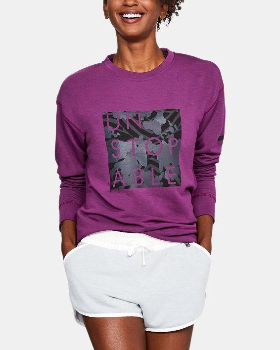 Women's UA Unstoppable Knit Crew, Purple, pdpMainDesktop image number 0
