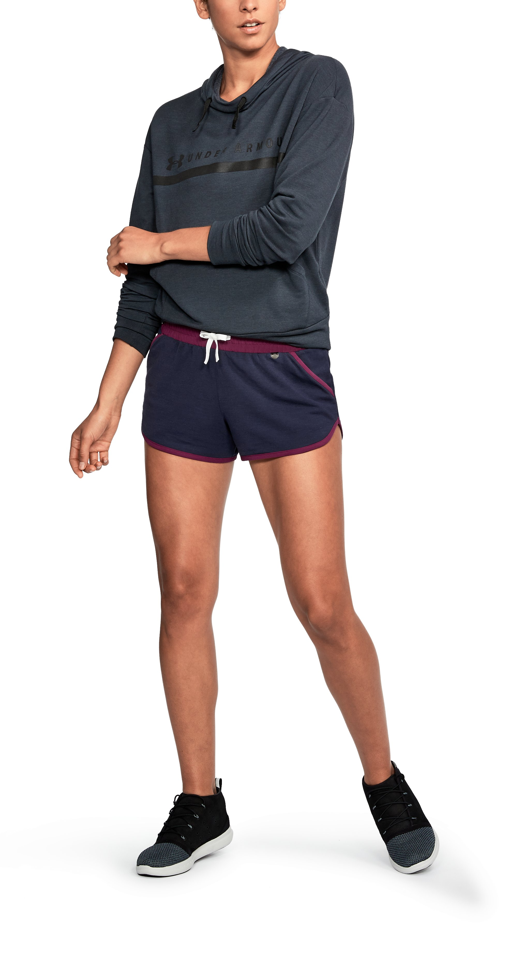 Women's UA Unstoppable Knit Shorts, NIGHTTIME BLUE, undefined