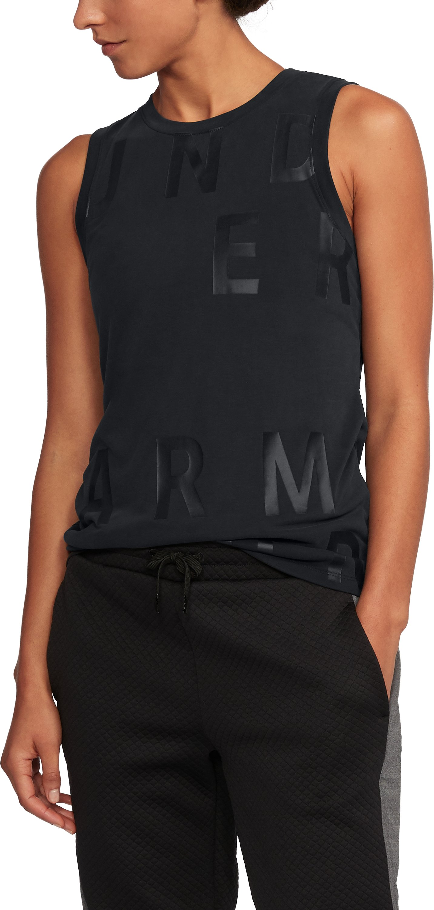 Women's UA Unstoppable Graphic Tank, Black ,