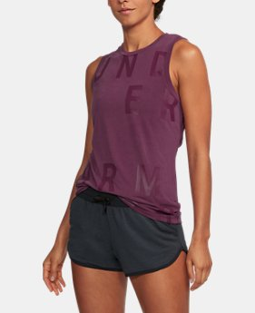 Women's UA Unstoppable Graphic Tank  1 Color $35