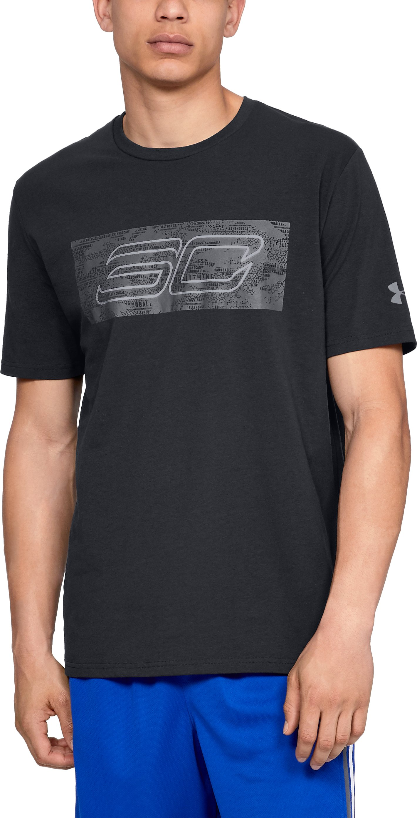 Men's SC30 Logo Short Sleeve T-Shirt, Black ,