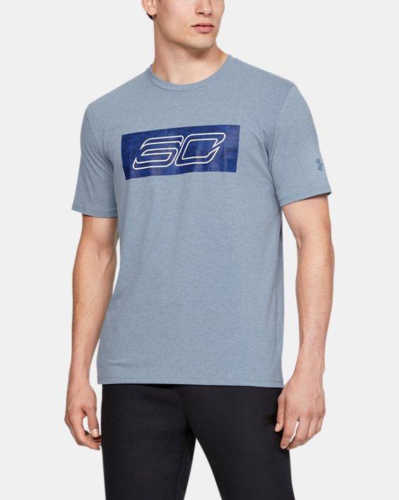 Men's SC30 Logo Short Sleeve T-Shirt, Gray, pdpMainDesktop image number 0