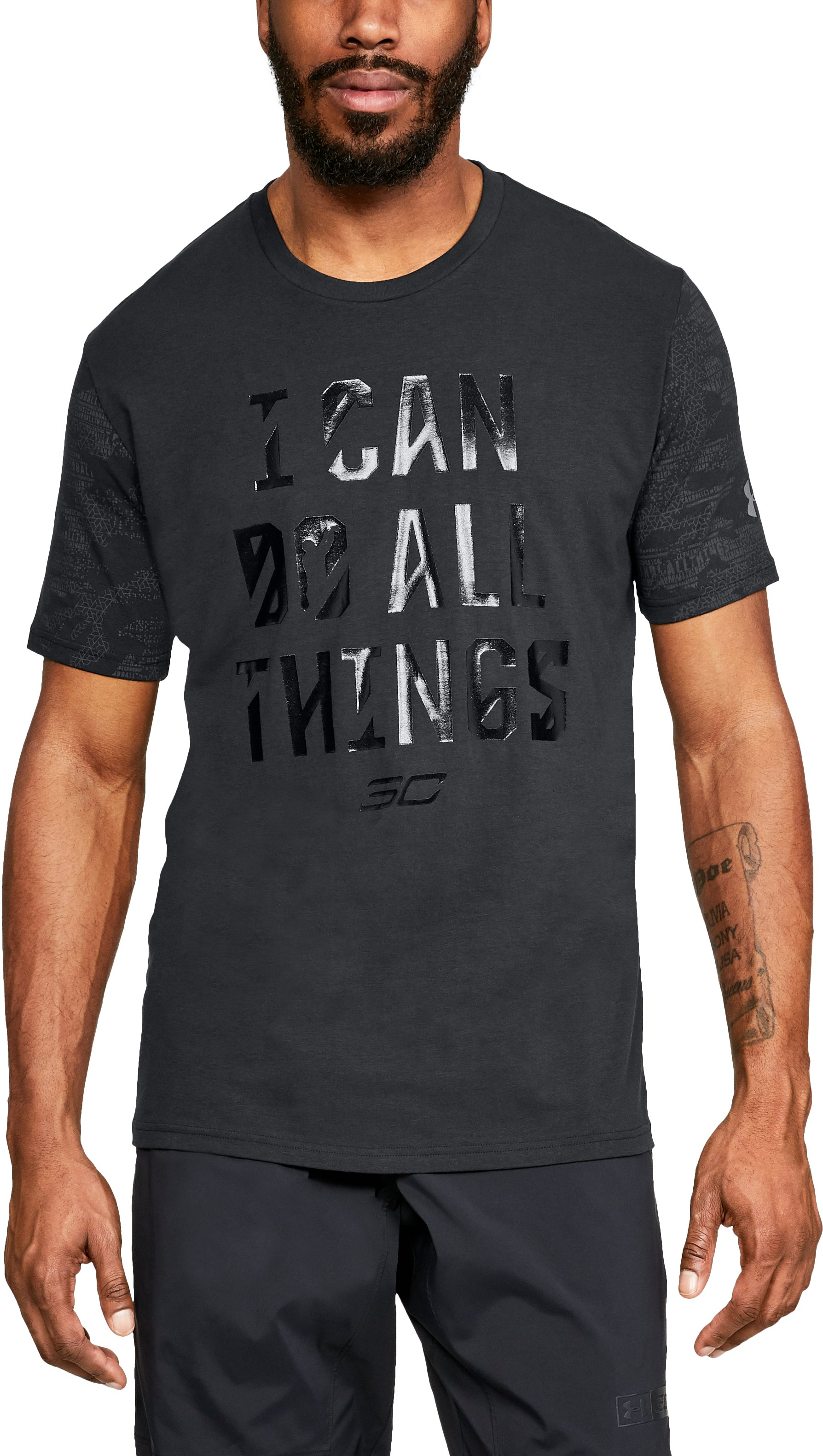 Men's SC30 I Can Do All Things Short Sleeve T-Shirt, Black ,