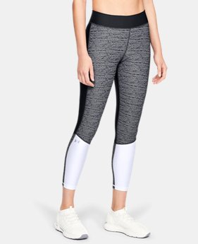 Women's HeatGear® Armour Jacquard Ankle Crop  2  Colors Available $50