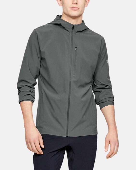 Men's UA Outrun The Storm Jacket, Gray, pdpMainDesktop image number 0