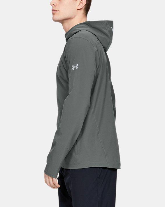 Men's UA Outrun The Storm Jacket, Gray, pdpMainDesktop image number 3