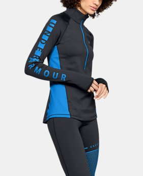 New Arrival Women's ColdGear® Armour Graphic ½ Zip  4  Colors Available $65