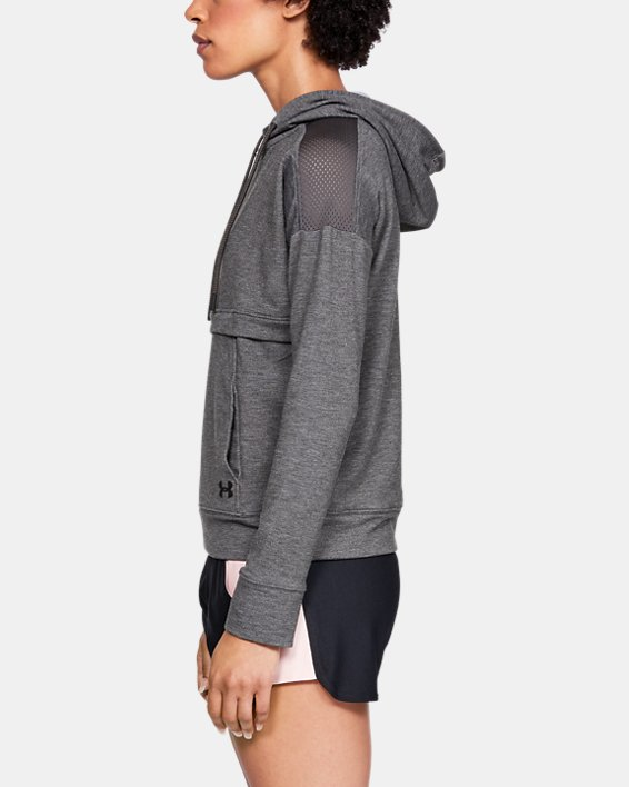 Women's UA Featherweight Fleece ½ Zip, Gray, pdpMainDesktop image number 3