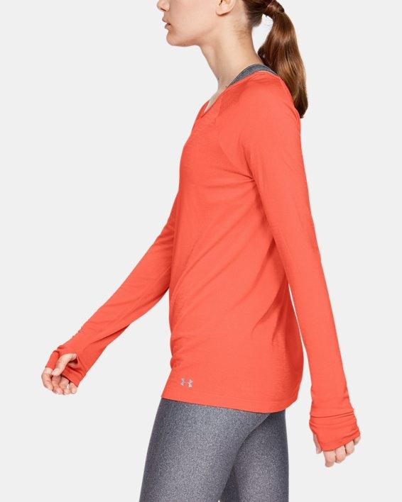 Women's UA Vanish Seamless Long Sleeve, Red, pdpMainDesktop image number 3