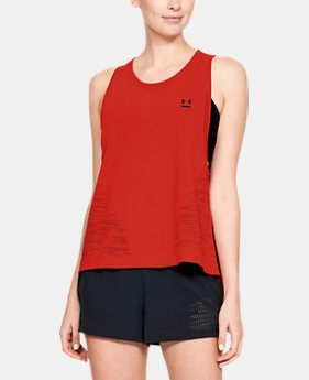 Women's UA Perpetual Woven Tank  1  Color Available $60
