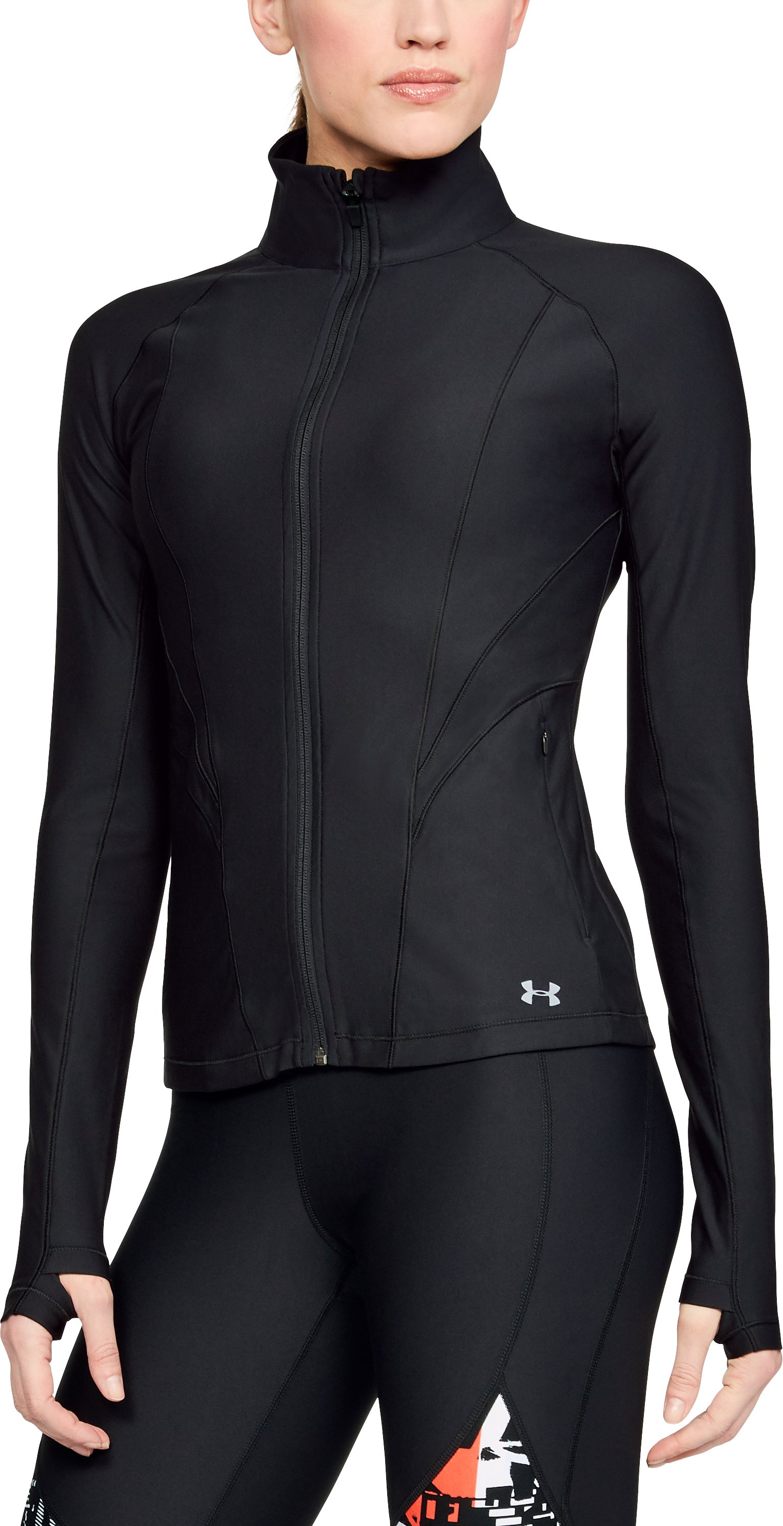 Women's UA Balance Full Zip, Black ,