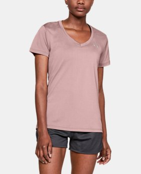 Women's UA Tech™ Color Shift V-neck Short Sleeve  1  Color Available $24.99