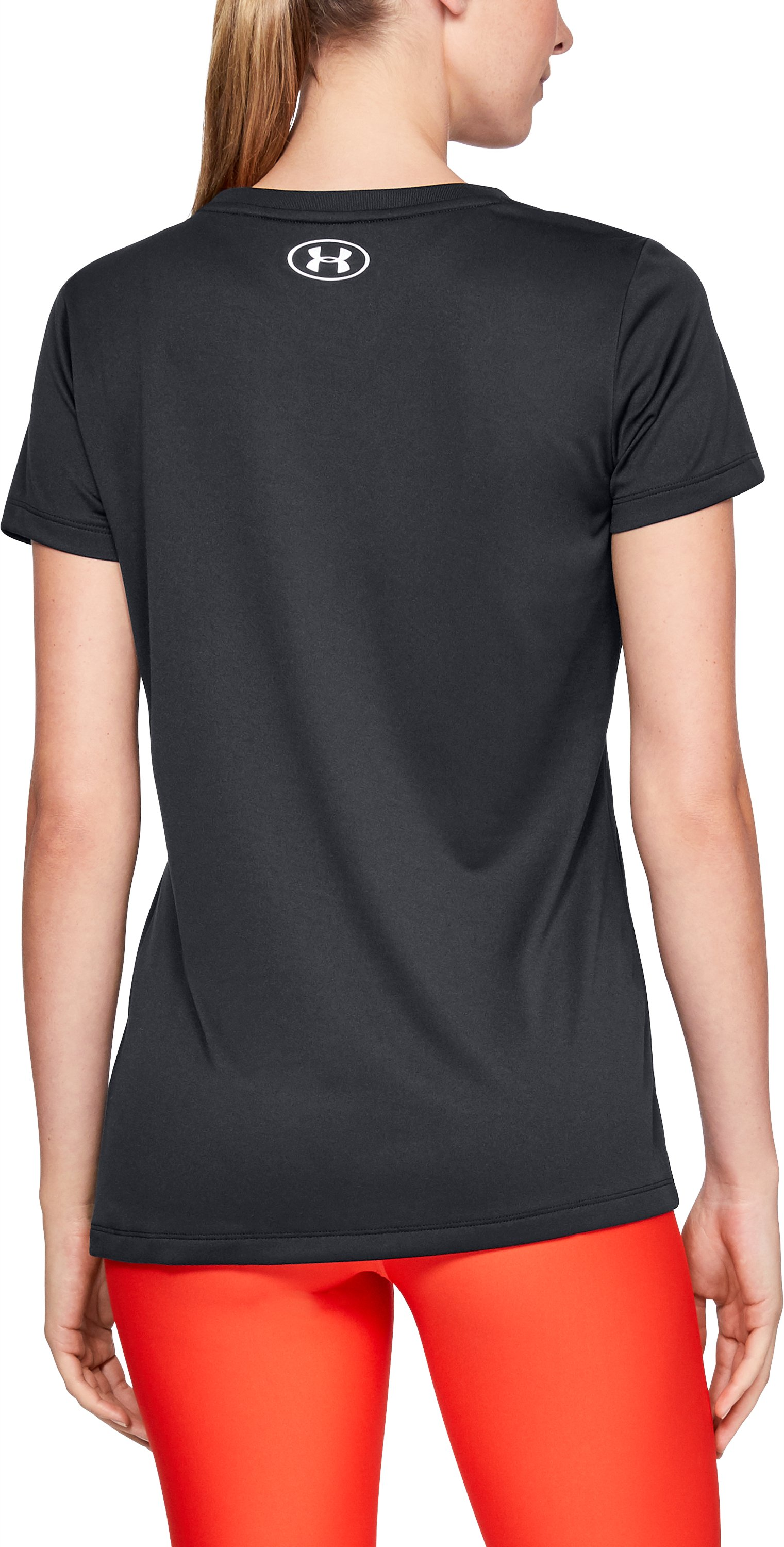 Women's UA Tech™ Graphic Short Sleeve, Black ,