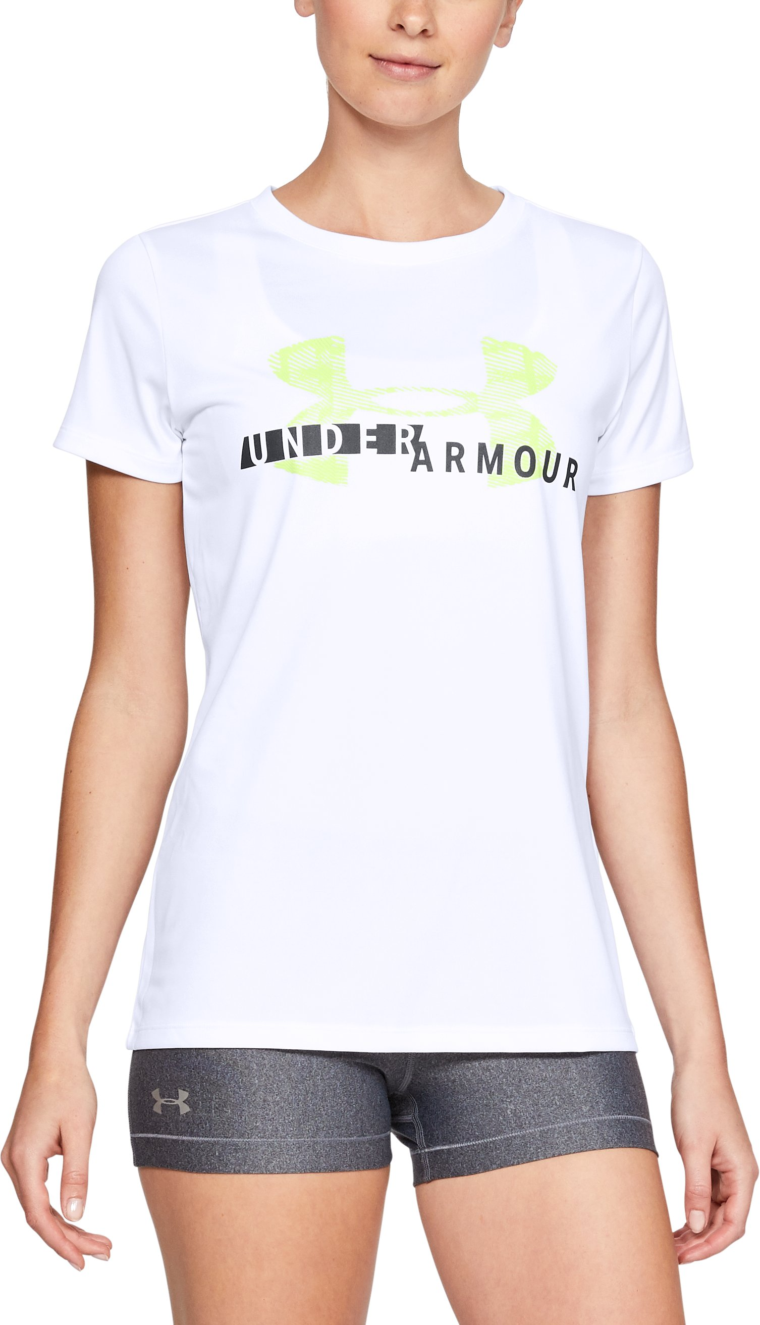 Women's UA Tech™ Graphic Short Sleeve, White,