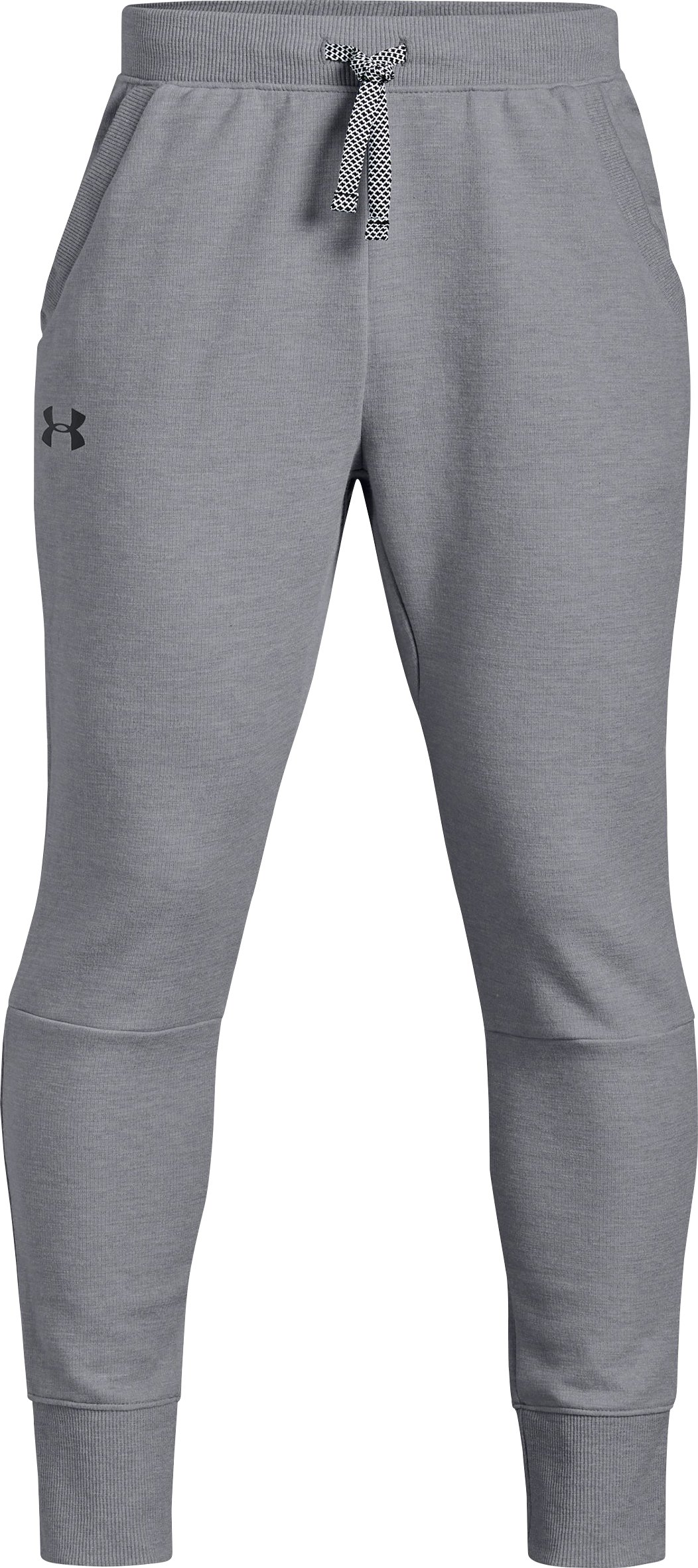 Boys' UA Double Knit Pants - Tapered, STEEL LIGHT HEATHER,