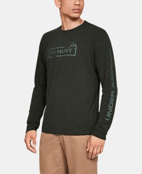 New Arrival Men's UA HUNT Logo Long Sleeve FREE U.S. SHIPPING 1  Color Available $30