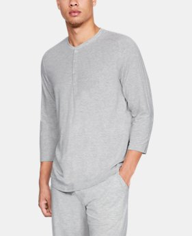 Best Seller Men's Athlete Recovery Sleepwear™ Ultra Comfort 3/4 Henley  3  Colors Available $110