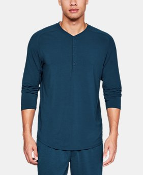 New Arrival Men's Athlete Recovery Sleepwear™ Ultra Comfort 3/4 Henley  3  Colors Available $110