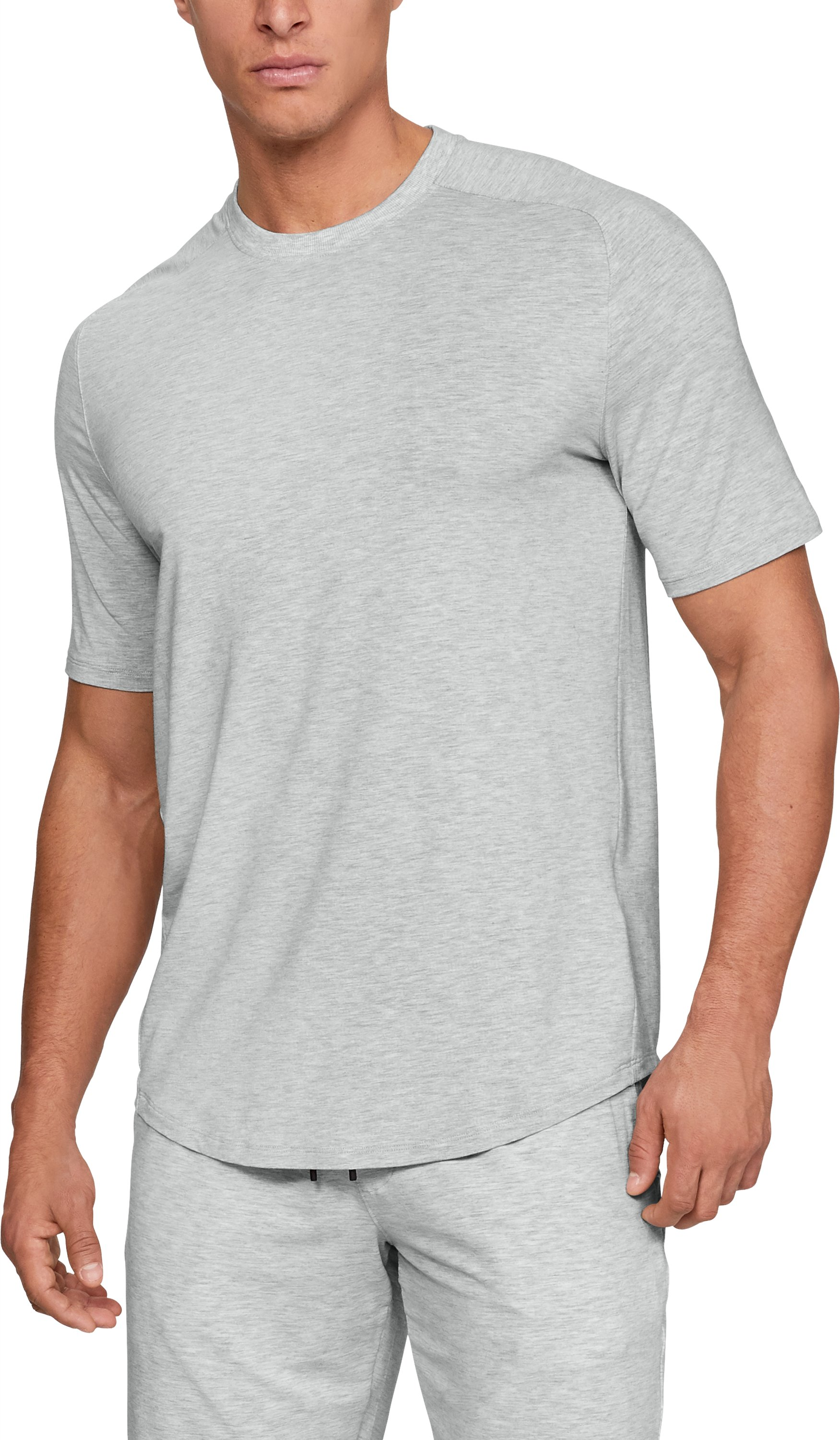 Men's Athlete Recovery Sleepwear™ Ultra Comfort Short Sleeve, Elemental Medium Heather, zoomed