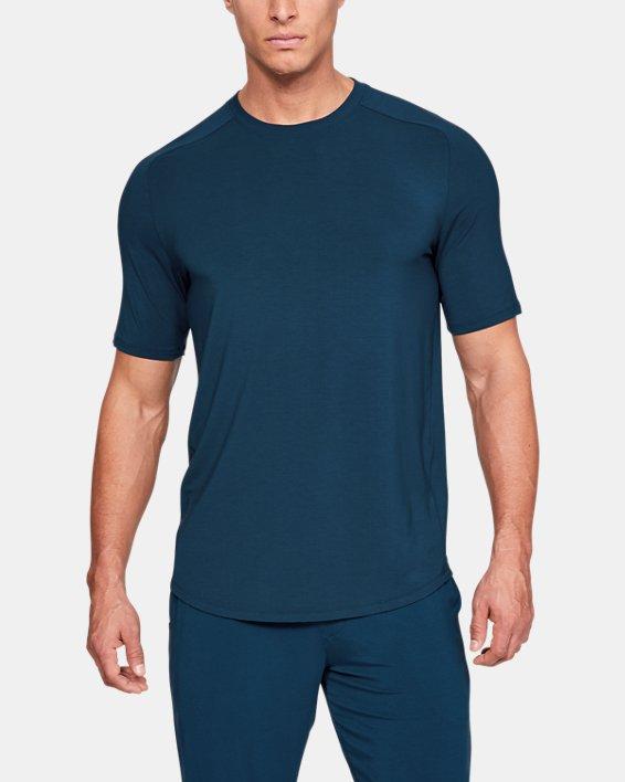 Men's UA RECOVER™  Sleepwear Ultra Comfort  Short Sleeve, Blue, pdpMainDesktop image number 0