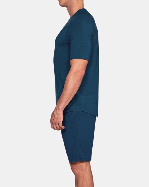 Men's UA RECOVER™  Sleepwear Ultra Comfort  Short Sleeve, Blue, pdpMainDesktop image number 3