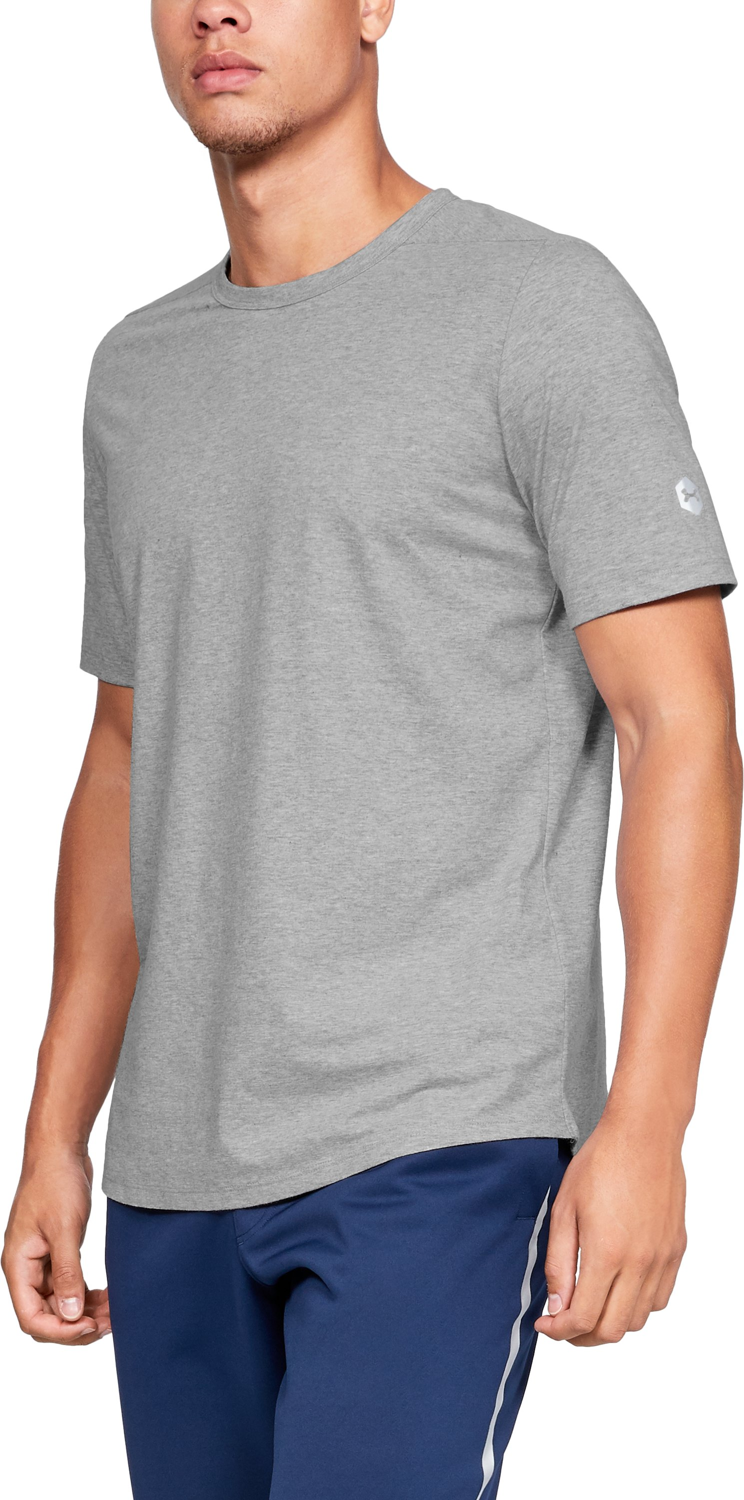 Men's Athlete Recovery T-Shirt, Performance Gray