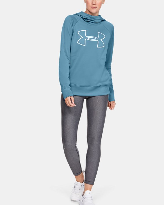 Women's Armour Fleece® Hoodie, Blue, pdpMainDesktop image number 1
