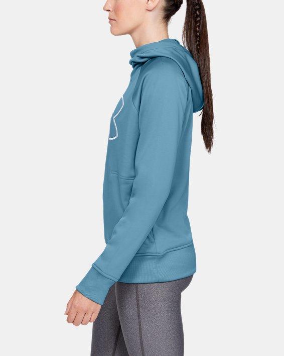 Women's Armour Fleece® Hoodie, Blue, pdpMainDesktop image number 3
