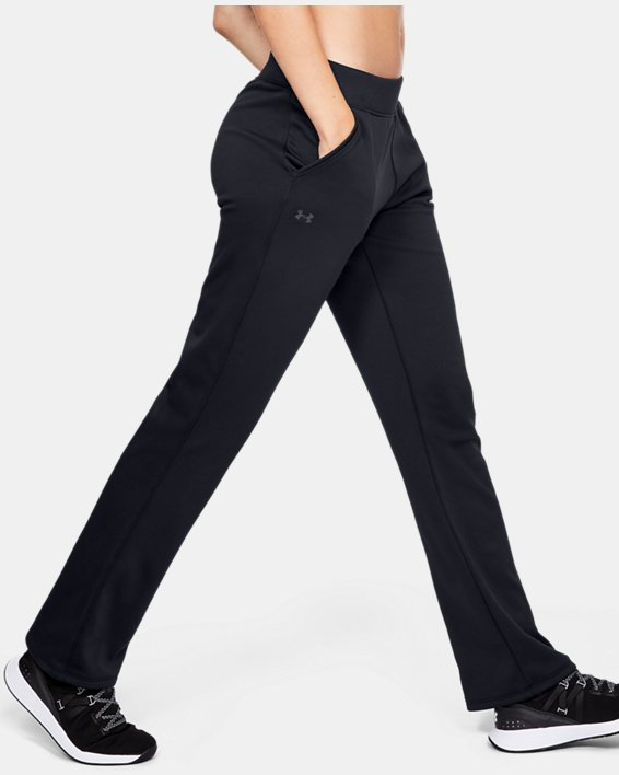 Women's Armour Fleece® Pants, Black, pdpMainDesktop image number 3