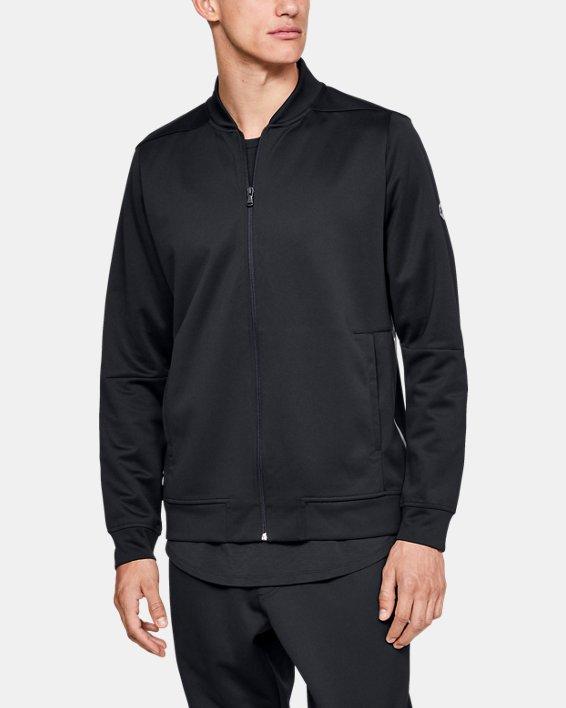Men's UA RECOVER™ Track Suit Jacket, Black, pdpMainDesktop image number 0